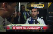 Embedded thumbnail for Messi se retira de la selección de Argentina