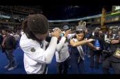 Embedded thumbnail for Jugadores de Carolina enseñan pasos de baile a Miss Universo