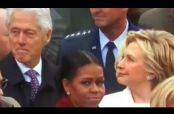 Embedded thumbnail for Hillary 'atrapa' a su esposo mirando a la hija de Trump