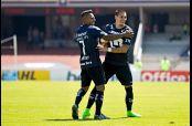 Nicolás Castillo celebra su gol contra Tijuana