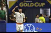 Ángel Sepúlveda festejando su gol con el Tricolor