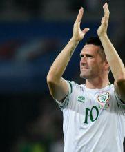 El delantero de LA Galaxy, Robbie Keane, celebra el triunfo de Irlanda