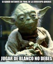 El sabio maestro Yoda les dice que ya no jueguen de blanco