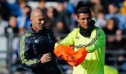 Zidane y CR7, en una práctica del Real Madrid