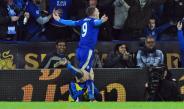 Vardy festeja un gol contra el Manchester City
