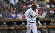 Justin Greene durante juego en la Serie del Caribe