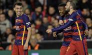 Kaptoum celebrando la anotación del empate en Mestalla