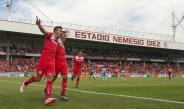 Triverio festeja gol contra Puebla