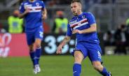 Cassano en partido con la Sampdoria