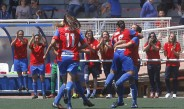 Chrlyn Corral festeja un gol con Levante