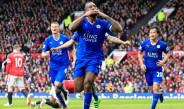 Jugadores del Leicester festejando una victoria de Premier