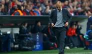 Guardiola y su lamento durante el juego contra Atlético