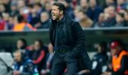 Simeone, en el partido contra Bayern Munich