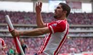 Pereira celebra un gol en el Clásico Tapatío