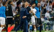 Zidane celebra el triunfo contra el City