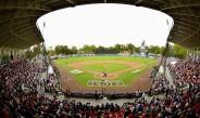 El Fray Nano, durante el partido entre Padres y Astros de la Mexico City Series