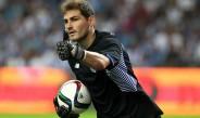 Iker Casillas, durante un encuentro con el Porto