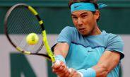 Nadal en el debut del Roland Garros