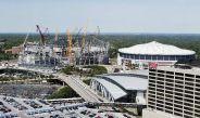 Construcción del Mercedez-Benz Stadium de Atlanta