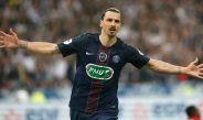 Ibrahimovic celebrando un gol en su último encuentro con París Saint Germain