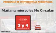 No circulan los vehículos con engomado rojo y terminación de placas 3 y 4