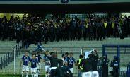 La afición ecuatoriana festejando con su equipo el pase a 'semis' de Libertadores