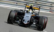 Monoplaza de Sergio Pérez durante las Prácticas Libres del GP de Mónaco