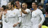 Gareth Bale, Benzema y Cristiano Ronaldo, jugadores del Real Madrid