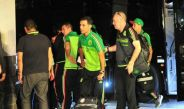 Rafa Márquez junto a los otros seleccionados llegando a Atlanta