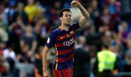 Busquets celebra tras ganar la Copa del Rey