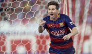 Lionel Messi en un partido de Barcelona