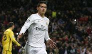 James Rodríguez, celebrando una anotación con Real Madrid