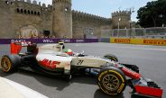 Esteban Gutiérrez, conduciendo su Haas durante el GP de Europa