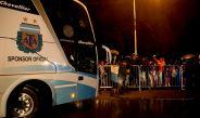 Camión de la Albiceleste llegando a suelo argentino