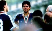 Diego Maradona llora tras perder la Final de Italia 90