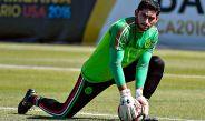 Jesús Corona en práctica con la Selección Mexicana durante la Copa América