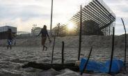 Restos humanos, cerca del recinto de voleibol de playa