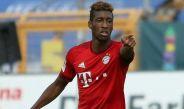 Kingsley Coman en un partido con el Bayern Münich