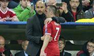 Guardiola y Ribery en un partido del Bayern Munich