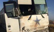 El camión de los Vaqueros tras el accidente