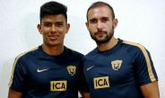 Los jugadores de Pumas, Jesús Gallardo y Alejandro Castro