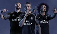Benzema, Bale y Marcelo lucen el tercer jersey del Madrid