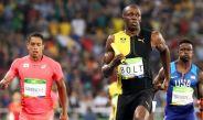 El corredor jamaicano Usain Bolt durante la prueba de 4x100 en los últimos JO