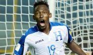 Elis celebra un gol con la selección de Honduras