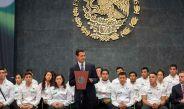 Peña Nieto dando discurso a los atletas que participaron en Río 2016