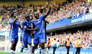 Jugadores del Chelsea festejan un gol frente al Burnley