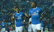 Joffre Guerrón festeja un gol con La Máquina durante la Copa MX
