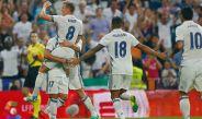 Kroos festeja su anotación frente al Celta en el Bernabéu