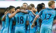 Los jugadores del City celebrando un gol