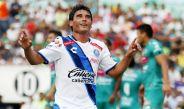 Alustiza festeja su gol frente a Chiapas